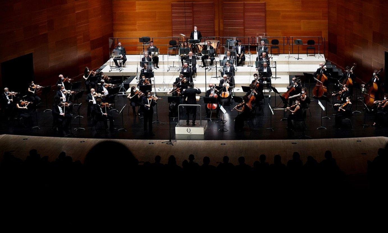 Espainiako Orkestra Nazionala Kursaalean, Donostiako Musika Hamabostaldian eman zuen kontzertuan. ©JAVIER ETXEZARRETA / EFE