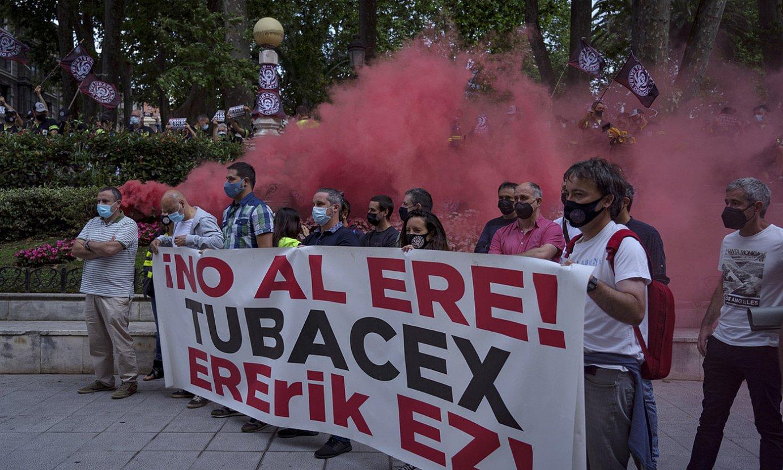 Tubacexeko langileen protesta bat. ©ARITZ LOIOLA / FOKU