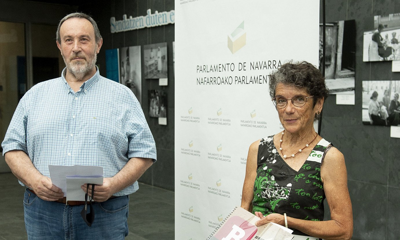 Juanje Soria eta Teresa Toda, Nafarroako Parlamentuan. ©IÑIGO URIZ / FOKU