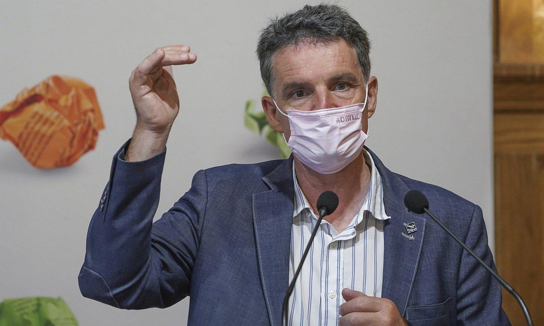Paul Molac Bretainiako diputatua, Donostiako Miramar jauregian, atzo. ©ANDONI CANELLADA / FOKU