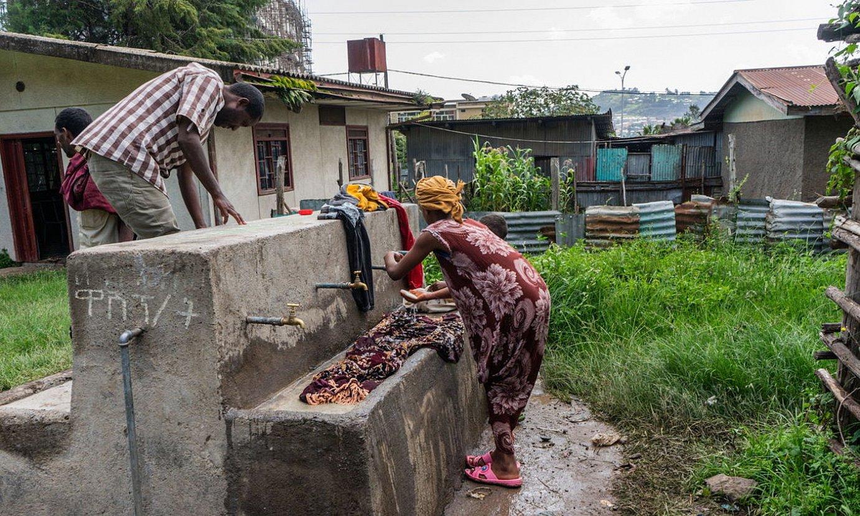 Desplazatuentzako kanpaleku bat, Dessien, Amhara eskualdean. ©EFE
