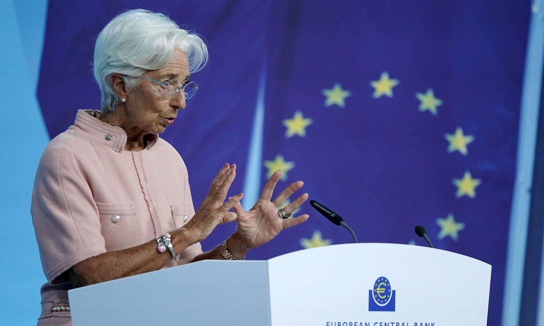 Christine Lagarde Europako Banku Zentraleko presidentea, atzo, Frankfurten. ©RONALD WITTEK / EFE