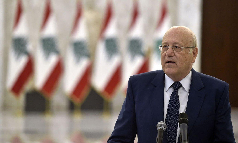 Najib Mikati, gobernua osatzeko eginbeharra hartu berritan, uztailean. ©AEL HAMZEH / EFE