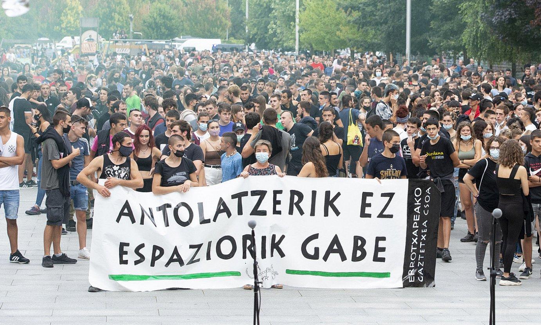 Protesta amaierara iritsi zenean. ©IÑIGO URIZ / FOKU