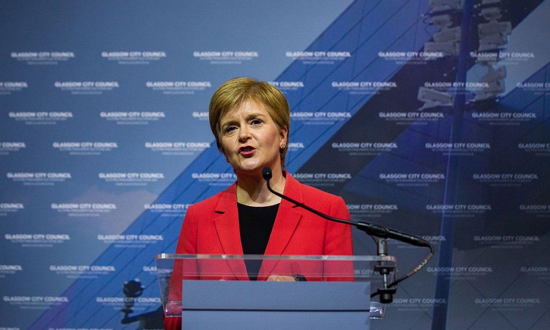 Nicola Sturgeon, maiatzeko bozak irabazi berritan, Glasgowen. ©ROBERT PERRY / EFE