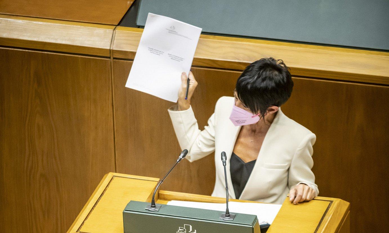Maddalen Iriarte, atzo, politika orokorreko eztabaidan. ©JAIZKI FONTANEDA / FOKU