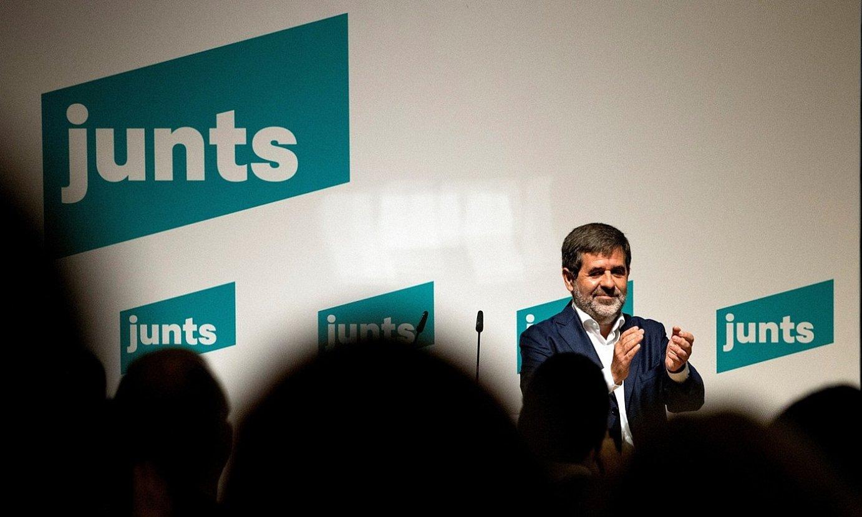 Junts Per Catalunyako idazkari nagusia, Jordi Sanchez, atzo, Bartzelonan egindako kongresuaren amaieran. ©ALBERTO ESTEVEZ / EFE