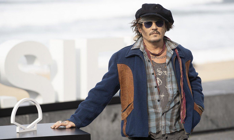 Johnny Depp aktorea, atzo, arratsaldean prentsaurreko agerraldia egin baino lehen. ©JAGOBA MANTEROLA / FOKU