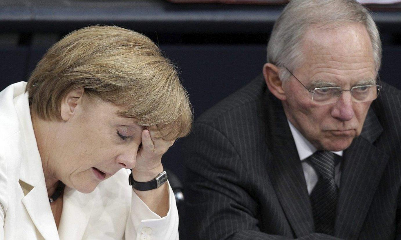 Angela Merkel eta Wolfgang Schaueble, 2013. urtean. ©WOLFGANG KUMM / EFE