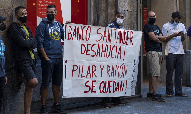 Maizterren Sindikatuko protesta bat, Bilbon. ©MONIKA DEL VALLE / FOKU