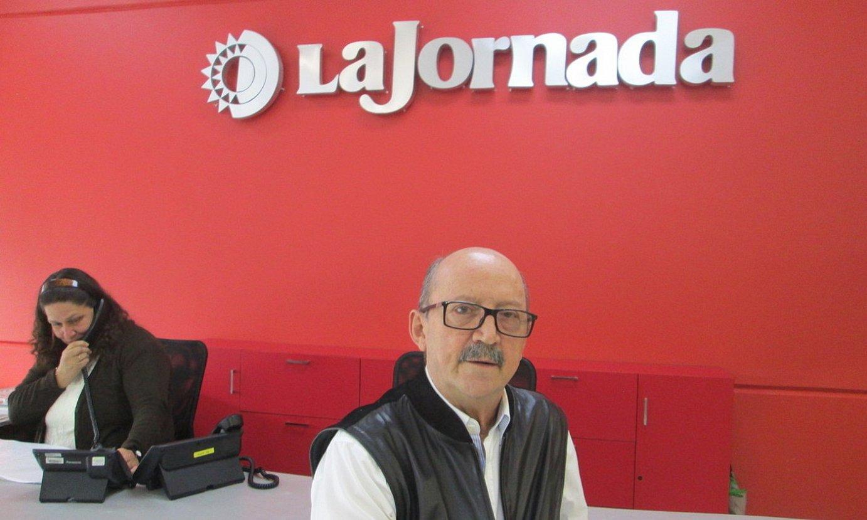 Josetxo Zaldua 2016an, <em>La Jornada</em> egunkariko erredakzioan. ©IGOR SUSAETA
