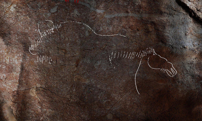 Alkerdi 2 leizezuloan aurkitu duten irudietako bat. ©RIVERO / GARATE