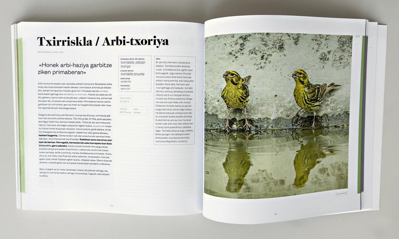 Liburuko fitxen itxura. Informazio zientifikoa eta bestelako jakingarriak bildu dituzte. ©BERRIA