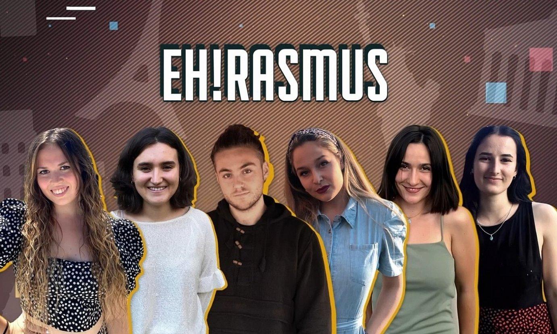 EITBren <em>EH!rasmus</em> egitasmo berriko sei ikasle protagonistak. ©EITB