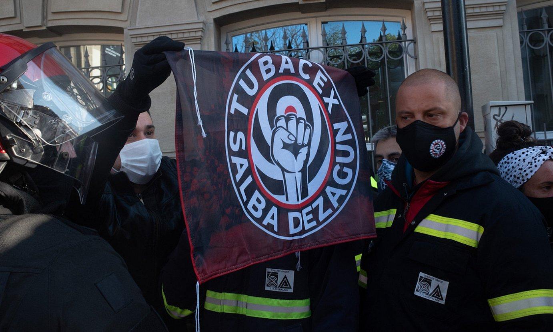 Tubacexeko langileek Gasteizen eginiko protesta ekintza bat. ©A. L. / FOKU