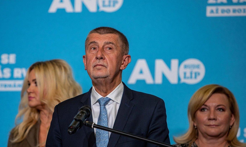 Andrej Babis Txekiako jarduneko lehen ministroa, hauteskunde emaitzak ezagutu osteko agerraldian, Pragan. ©MARTIN DIVISEK / EFE