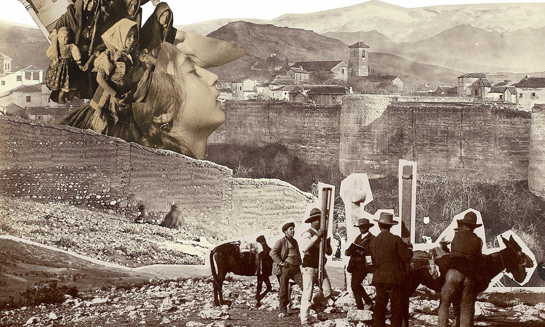 Cristina de Middelek Aleatoris Vulgaris seriean sortu dituen collageetako bat. ©BERRIA