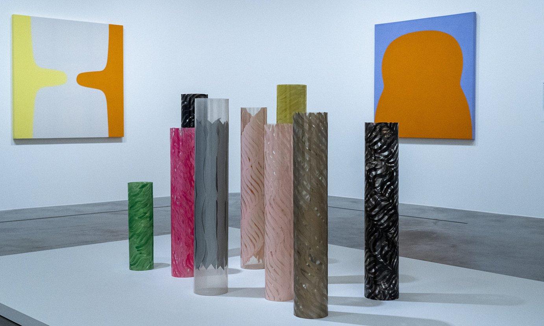 <em>Emakumeak abstrakziogile</em> erakusketako hainbat obra, Bilboko Guggenheim museoan. ©MONIKA DEL VALLE / FOKU