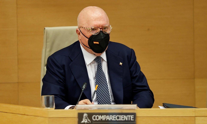 Jose Manuel Vilarejo komisario ohia, asteazkenean, Espainiako Kongresuan. ©CHEMA MOYA / EFE