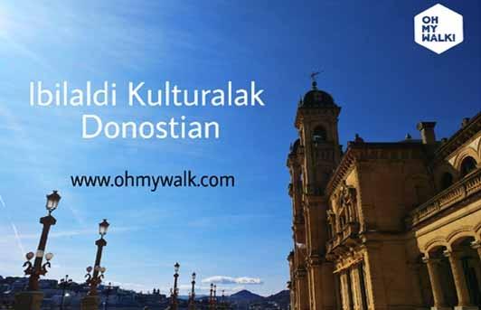 Ibilaldi tematiko kulturalak Donostian.