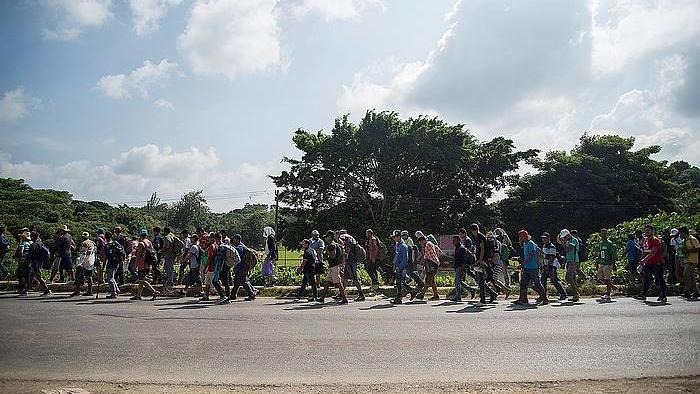 Migratzaileen karabana Mexikon