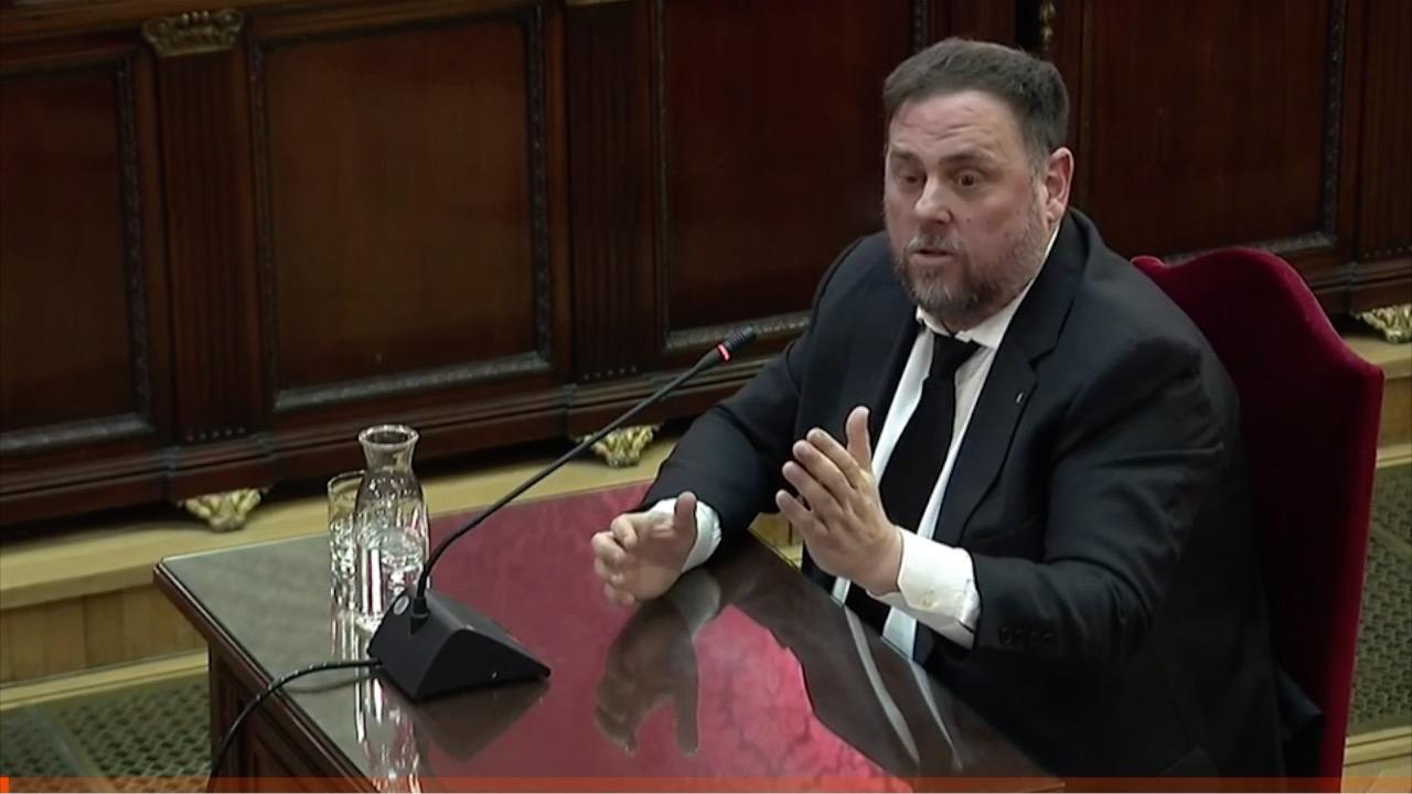 Kataluniako prozesu subiranistari epaiketa: Oriol Junqueras auzipetua