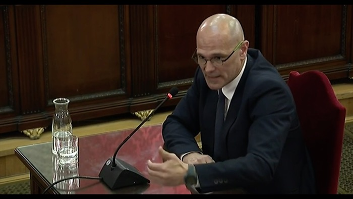 Kataluniako prozesu subiranistari epaiketa: Raul Romeva auzipetua