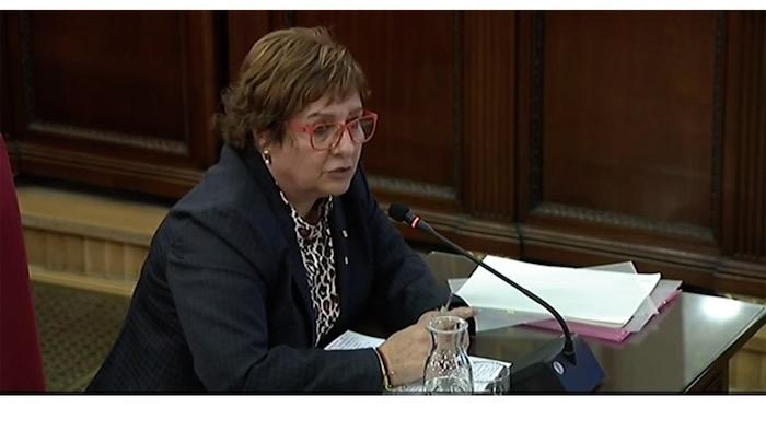 Kataluniako prozesu subiranistari epaiketa: Dolors Bassa auzipetua