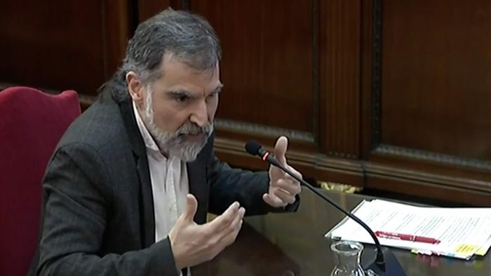 Kataluniako prozesu subiranistari epaiketa: Jordi Cuixart auziperatuaren deklarazioa