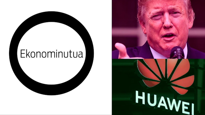 Ekonominutua: Kolpea Huawei konpainiari