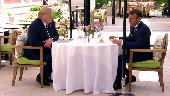 Macron eta Trump elkarrekin