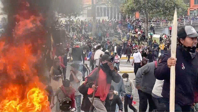 Indigenek Ekuadorko Parlamentua okupatu dute ordubetez