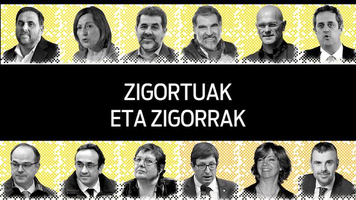 Kataluniako auziko epaia: Zigortuak eta zigorrak
