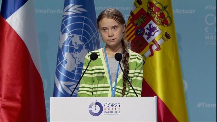 Greta Thunbergenen hitzaldia