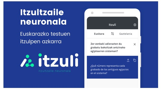 'Itzuli' itzultzaile neuronalaren 'app'-a aurkeztu dute