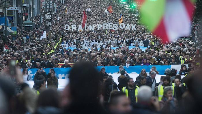 Euskal presoen aldeko manifestazioak