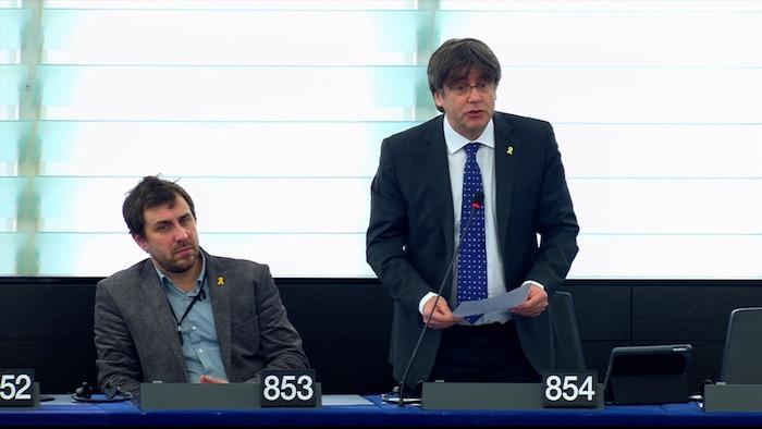 Puigdemont Europako Parlamentuan