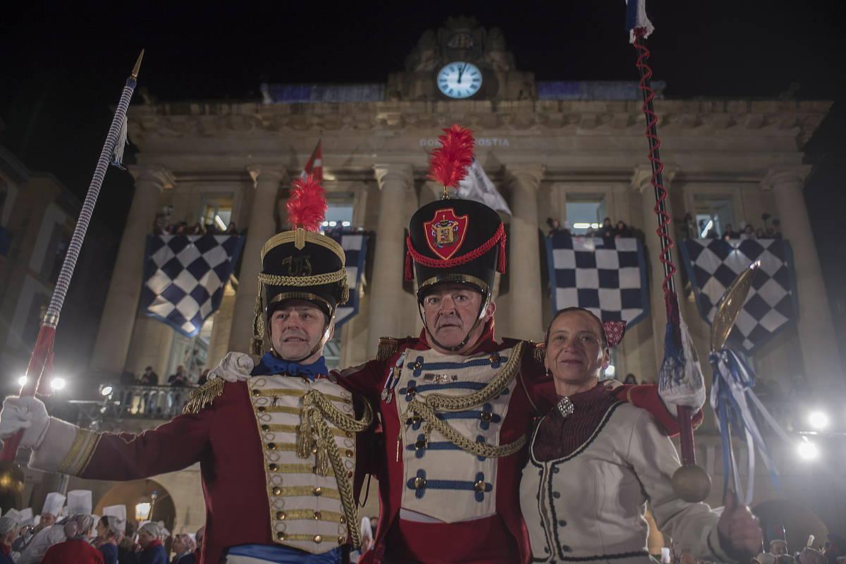 Bandera altxatzeko ekitaldia, Donostiako San Sebastian jaia