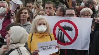 Zaldibarko ezbeharraren kudeaketa salatzeko manifestazioa