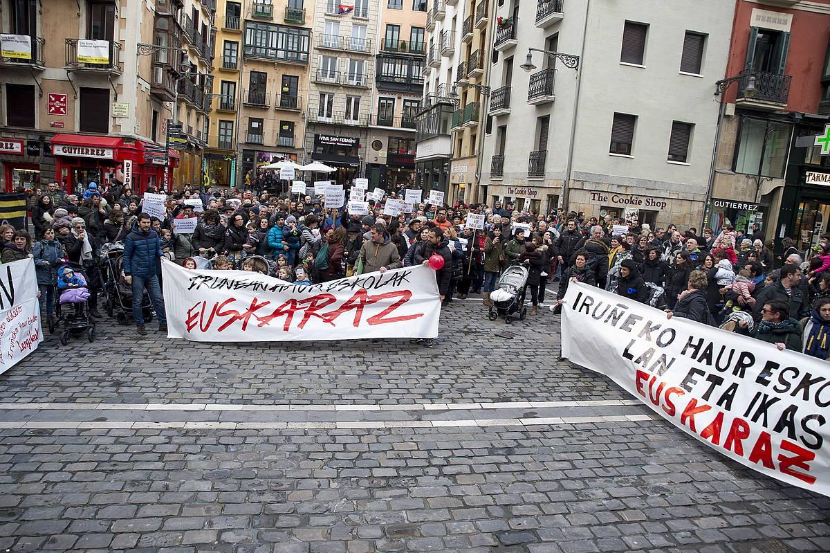 Navarra Sumaren euskararen ordenantza behin betiko onartu du Iruñeko udalbatzak