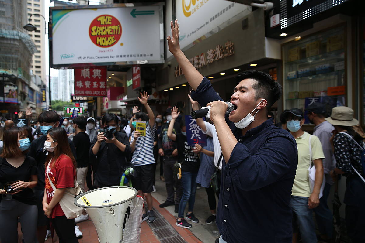 Protestak itzuli dira Hong Kongeko kaleetara