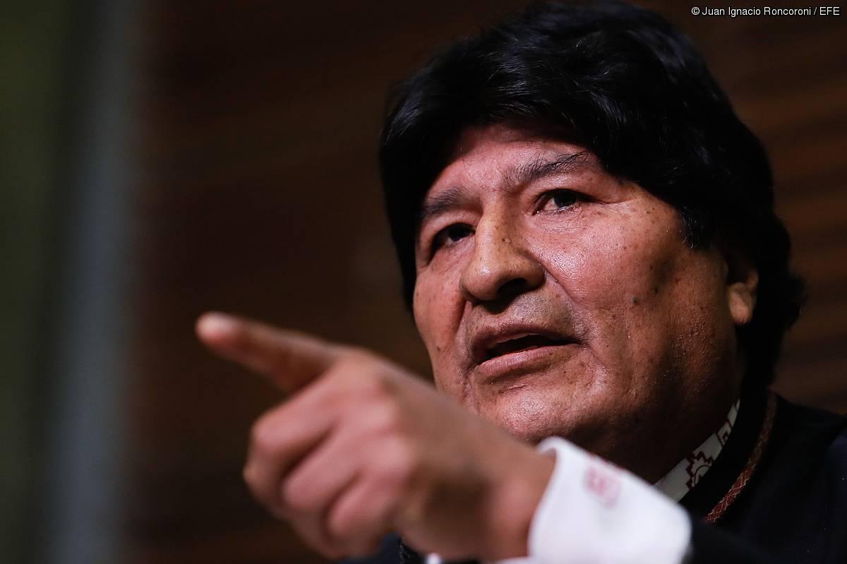 Evo Morales Boliviako presidente ohia