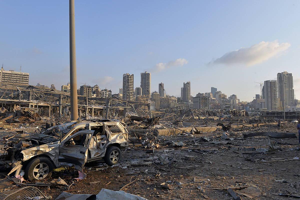 Leherketa Beiruteko portuan