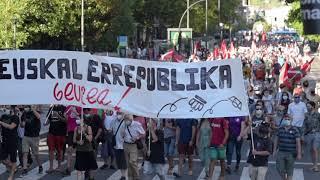 Monarkiaren aurkako manifestazioa, Donostian