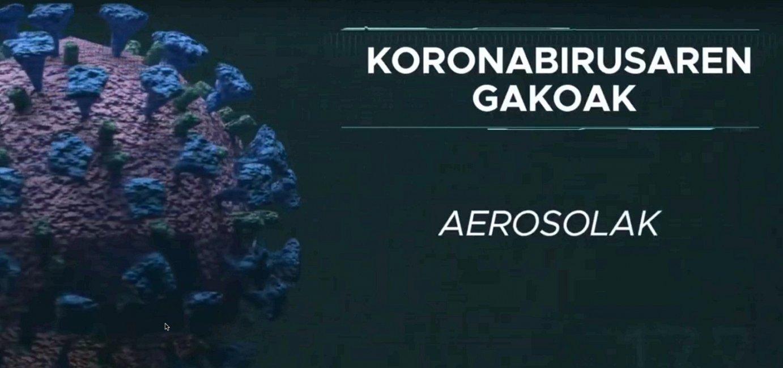 Koronabirusaren gakoak. Aerosolak