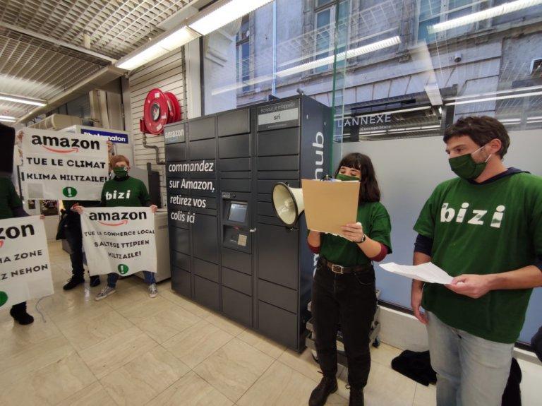 Amazonen aurkako protesta, Baionan