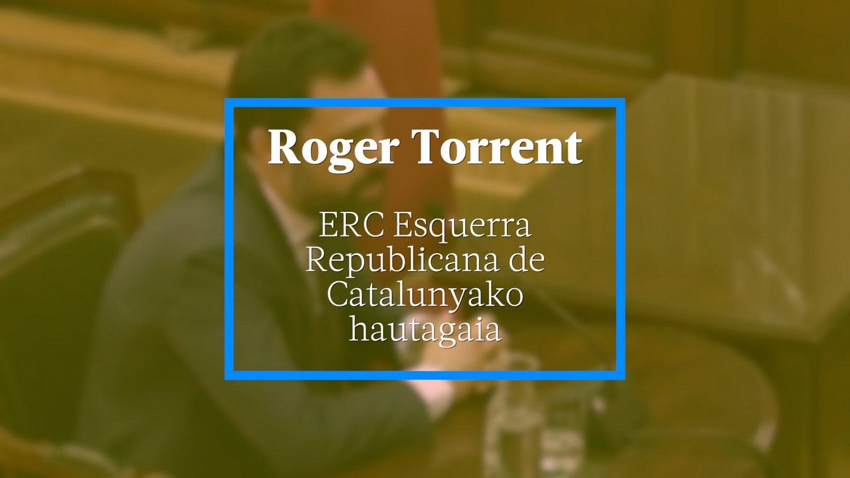 Roger Torrent, ERC Esquerra Republicana de Catalunyako hautagaia