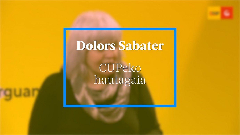 Dolors Sabater, CUPeko hautagaia