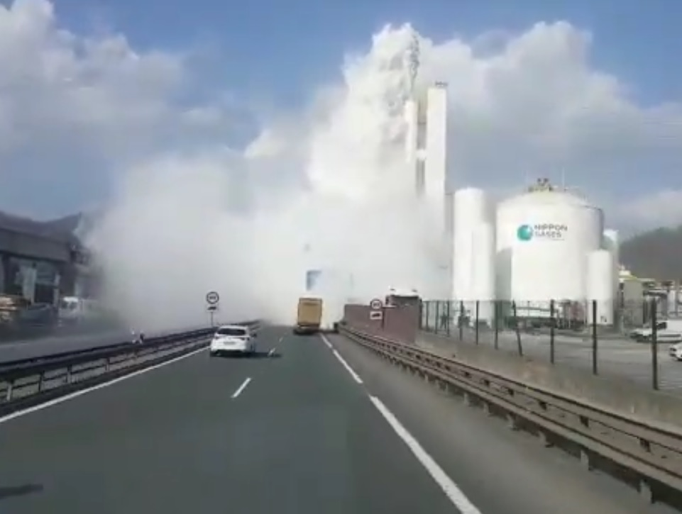 Gas isurketa Olaberriko Nippon Gases enpresan