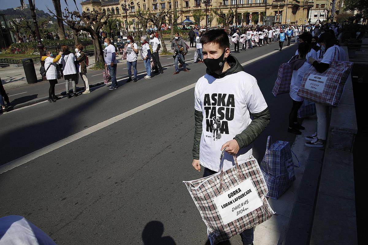 Euskal presoen aldeko manifestazioa Donostian